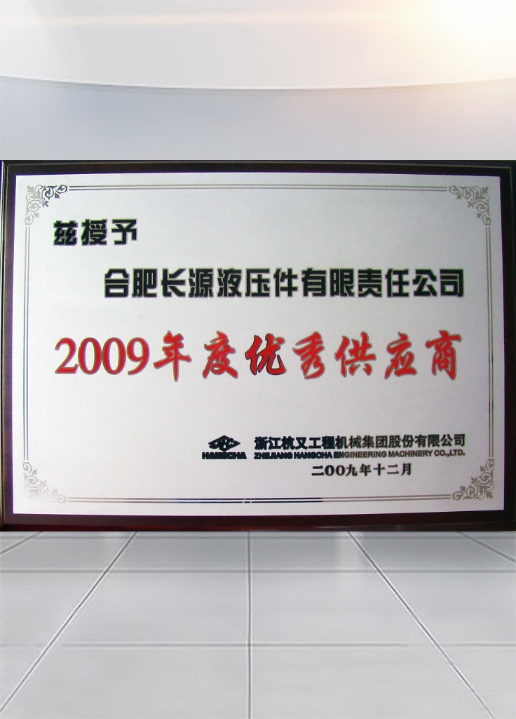 Excellent supplier of Zhejiang Hangcha Construction Machinery in 2009
